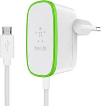 Belkin Thuislader 12W + vaste Micro-USB kabel Wit 1.2m