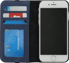 Decoded Leather Wallet Case voor iPhone 8 / 7 Blauw