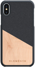 Nordic Elements Hel Apple iPhone X/Xs Back Cover Grijs/Hout