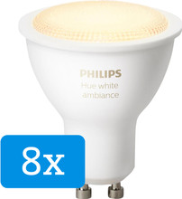 Philips Hue White Ambiance GU10 8-pack