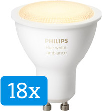 Philips Hue White Ambiance GU10 18-pack