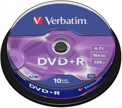 Verbatim DVD+R 4,7 GB 10 Pack Spindle