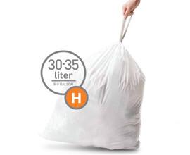 Simplehuman Afvalzak Code H Pocket Liner 30 Liter (60 stuks)