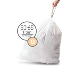 Simplehuman Afvalzak Code Q Pocket Liner 50 Liter (60 stuks)