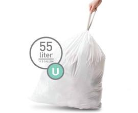 Simplehuman Afvalzak Code U Pocket Liner 55 Liter (60 stuks)