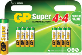 GP Super Alkaline Valuepack 8x AAA