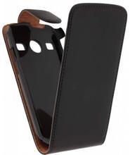 Xccess Leather Flip Case Samsung Galaxy Xcover 2 Black