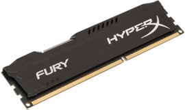 Kingston HyperX Fury 8 GB DIMM DDR3-1866 zwart