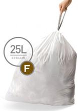 Simplehuman Afvalzak Code F Pocket Liner 25 Liter (60 stuks)