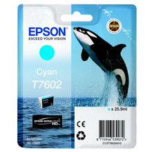 Epson T7602 Cartridge Cyaan