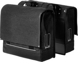 Basil Urban Fold Dubbel Bag 55L Zwart
