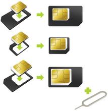 Muvit Universele Sim Adapter Micro / Nano Sim