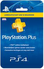 Sony PlayStation Plus Card 12 Maanden NL