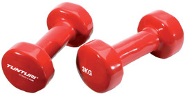 Tunturi Vinyl Dumbbells 2x 3 kg Red