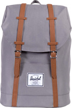 Herschel Retreat Grey/Tan PU Synthetic Leather