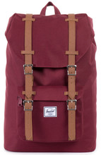 Herschel Little America Mid-Volume Windsor Wine/Tan Leather