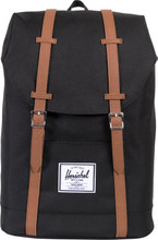 Herschel Retreat Black/Tan PU Synthetic Leather