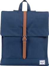 Herschel City Mid-Volume Navy/Tan Synthetic Leather