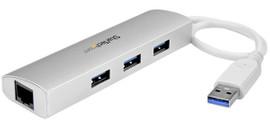 Startech 3-Poorts USB 3.0 Hub + Gigabit Ethernet Poort