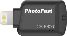 Photofast CR-8800 Flashdrive Lightning MicroSD Zwart