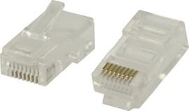 Valueline UTP CAT5 Netwerkstekker Transparant