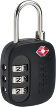 Delsey Travel Necessities TSA 3-Digit Padlock (USA) Black