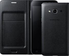Samsung Galaxy J3 (2016) Flip Wallet Zwart