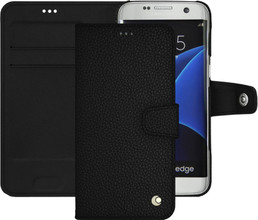 Noreve Tradition B Grain Leather Case Galaxy S7 Edge Zwart