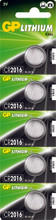 GP Lithium Knoopcel CR2016 Blister 5