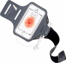 Mobiparts Comfort Fit Sportarmband iPhone 5/5S/SE Grijs