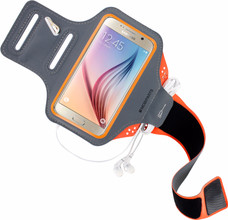 Mobiparts Comfort Fit Sportarmband Galaxy S6 Oranje
