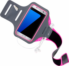 Mobiparts Comfort Fit Sportarmband Galaxy S7 Edge Roze