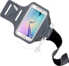 Mobiparts Comfort Fit Sportarmband Galaxy S6 Edge Grijs