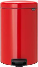 Brabantia NewIcon Pedaalemmer 20 Liter Rood