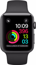 Apple Watch Series 2 38mm Spacegrijs Alumium/Zwarte Sportban