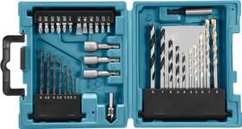 Makita 34-delige bit-en borenset D-36980