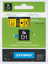 DYMO D1 Naamlabels Geel-Zwart (12 mm x 7 m) 1 Rol