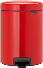 Brabantia NewIcon Pedaalemmer 5 Liter Rood