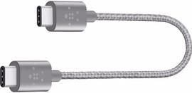 Belkin USB C naar USB C Kabel 15cm Grijs