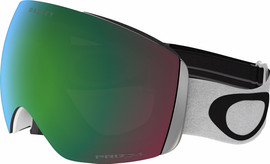 Oakley Flight Deck White + Prizm Jade Iridium Lens