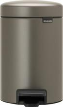 Brabantia NewIcon Pedaalemmer 3 Liter Platinum