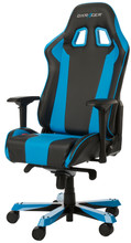 DX Racer KING Gaming Chair Zwart/Blauw