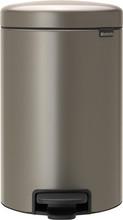 Brabantia NewIcon Pedaalemmer 12 Liter Platinum