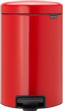 Brabantia NewIcon Pedaalemmer 12 Liter Rood