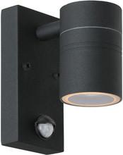Lucide Arne-LED Wandlamp Zwart met Bewegingssensor S