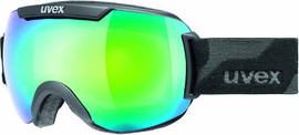 Uvex Downhill 2000 FM Black Mat + Mirror Green Lasergold
