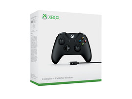 Microsoft Xbox One S Wired Controller Zwart (Windows 10)