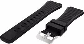 Just in Case Samsung Gear S3 Silicone Watchband Black