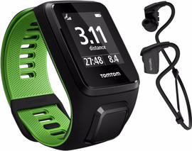 TomTom Runner 3 Cardio + Music + HP Black/Green - S