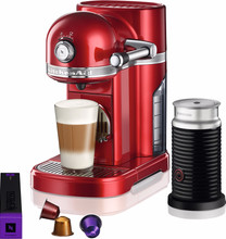 KitchenAid Nespresso en Aeroccino Appelrood